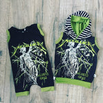 Metallica Classic Heavy Metal Romper/Dress/Hoodie, Romper and Hoodie Example