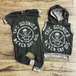 The Goonies Never Say Die Romper/Dress/Hoodie, Romper and Hoodie