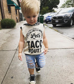 Let's Taco Bout It! Romper/Dress/Hoodie, Sleeveless Hoodie On Model