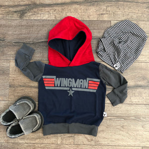 Wingman Top Wing Pilot Romper/Dress/Hoodie, Hoodie Flat Lay
