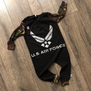 US Air Force Military Hero Romper/Dress/Hoodie, romper flat lay