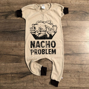 Nacho Problem Funny Romper/Dress/Hoodie, Short Sleeve Romper Example