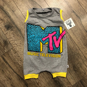 MTV Classic Logo Pop Culture Romper/Dress/Hoodie, Short Romper Example