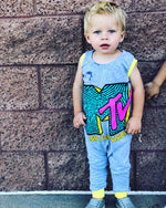 MTV Classic Logo Pop Culture Romper/Dress/Hoodie, Romper On Young Model