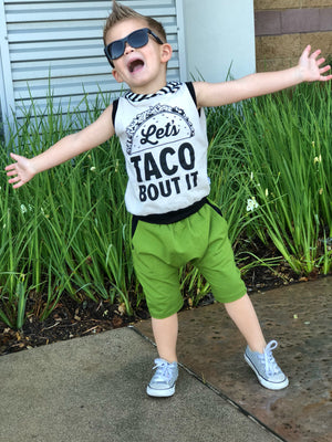 Let's Taco Bout It! Romper/Dress/Hoodie, Sleeveless Hoodie Modeled