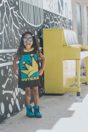 Outcast Hip Hop Romper/Dress/Hoodie, Dress on Model