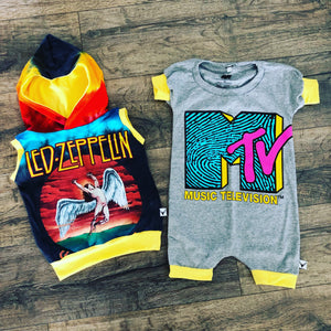 Led Zeppelin Classic Rock and Roll Romper/Dress/Hoodie, Hoodie and Romper Example