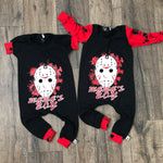 Mamas Boy Friday the 13th Scary Romper/Dress/Hoodie, Romper Examples