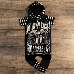 Johnny Cash Classic Country Romper/Dress/Hoodie, Romper Example
