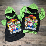Super Mario Squad Classic Video Game Romper/Dress/Hoodie