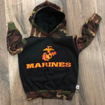 USMC Marine Corps Military Hero Romper/Dress/Hoodie, hoodie example