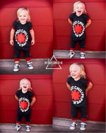 Red Hot Chili Peppers Romper/Dress/Hoodie, collage of four modeled shots