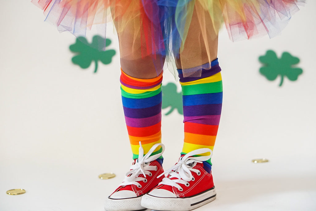 Knee High Socks Rainbow