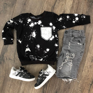 The Perfect Tee Monochrome Splatter