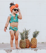 Pineapple Skull Girls Swimsuit