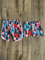 Popsicles Swim Shorts, Board Shorts, Euro Shorts