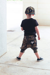 Camo Star Harem Pocket Shorts