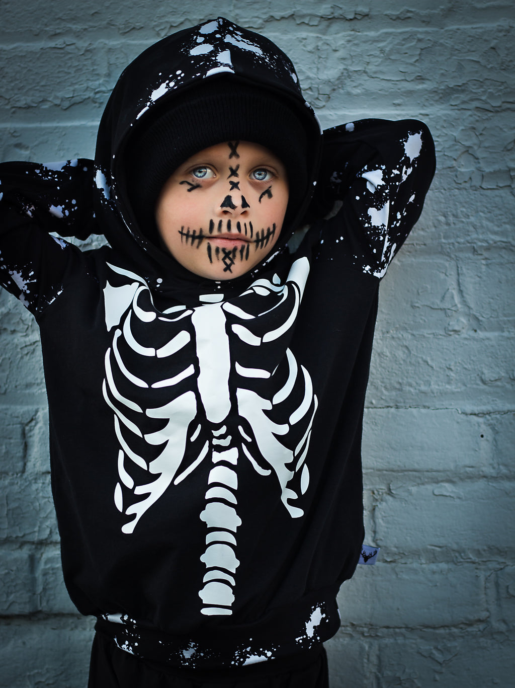 Skeleton Halloween Romper/Dress/Hoodie