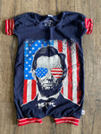 Abe Lincoln Navy Patriotic Romper/Dress/Hoodie