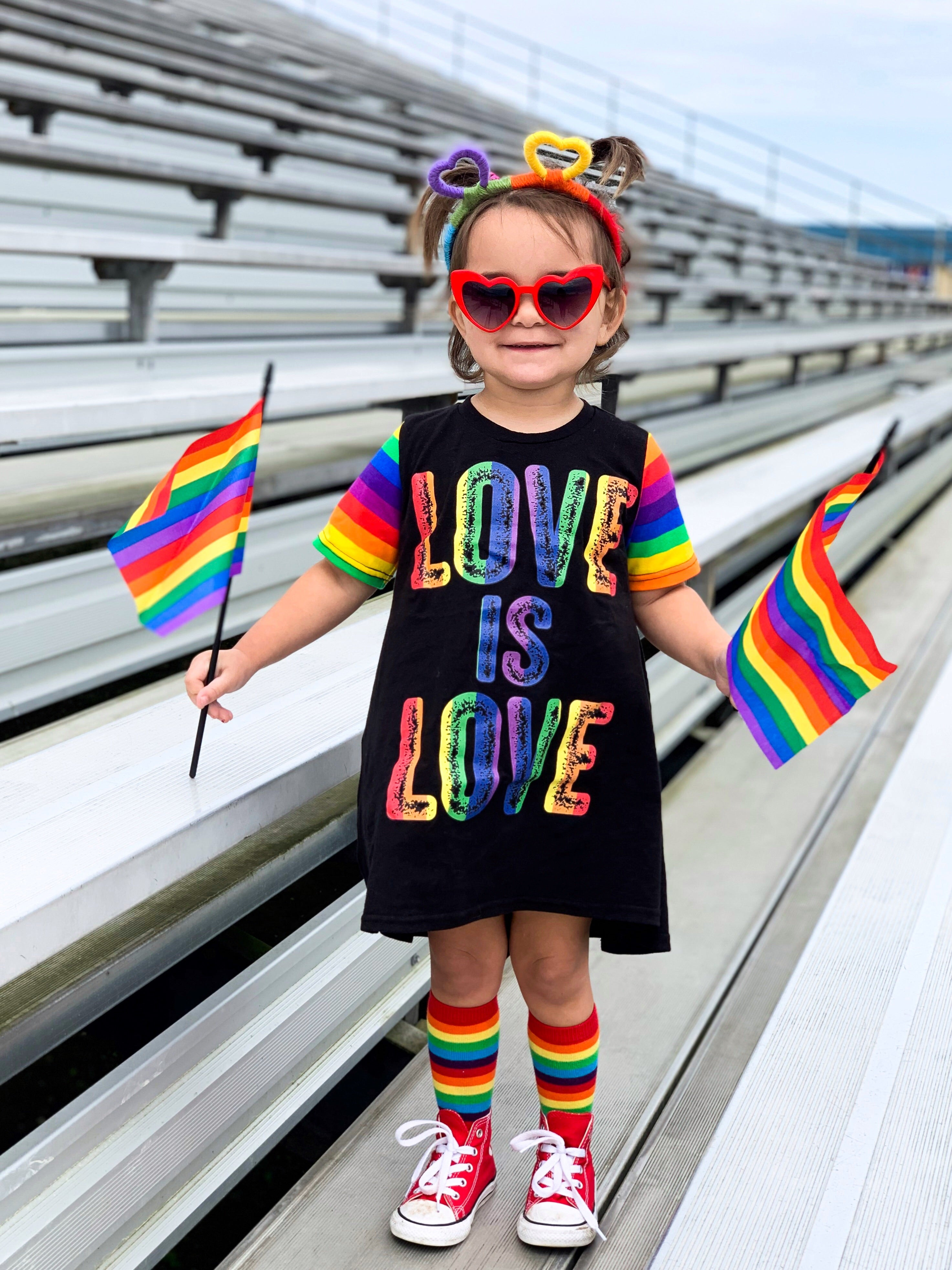 Love is Love, LGBTQ, Pride Parade Romper/Dress/Hoodie