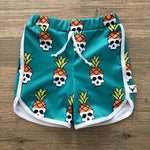 Pineapple Skulls Swim Shorts, Board Shorts