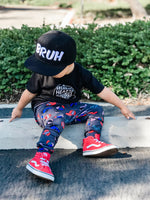 Snapback Love, Trucker Hat Harem Pants, Shorts, Bells and Twirl Skirts