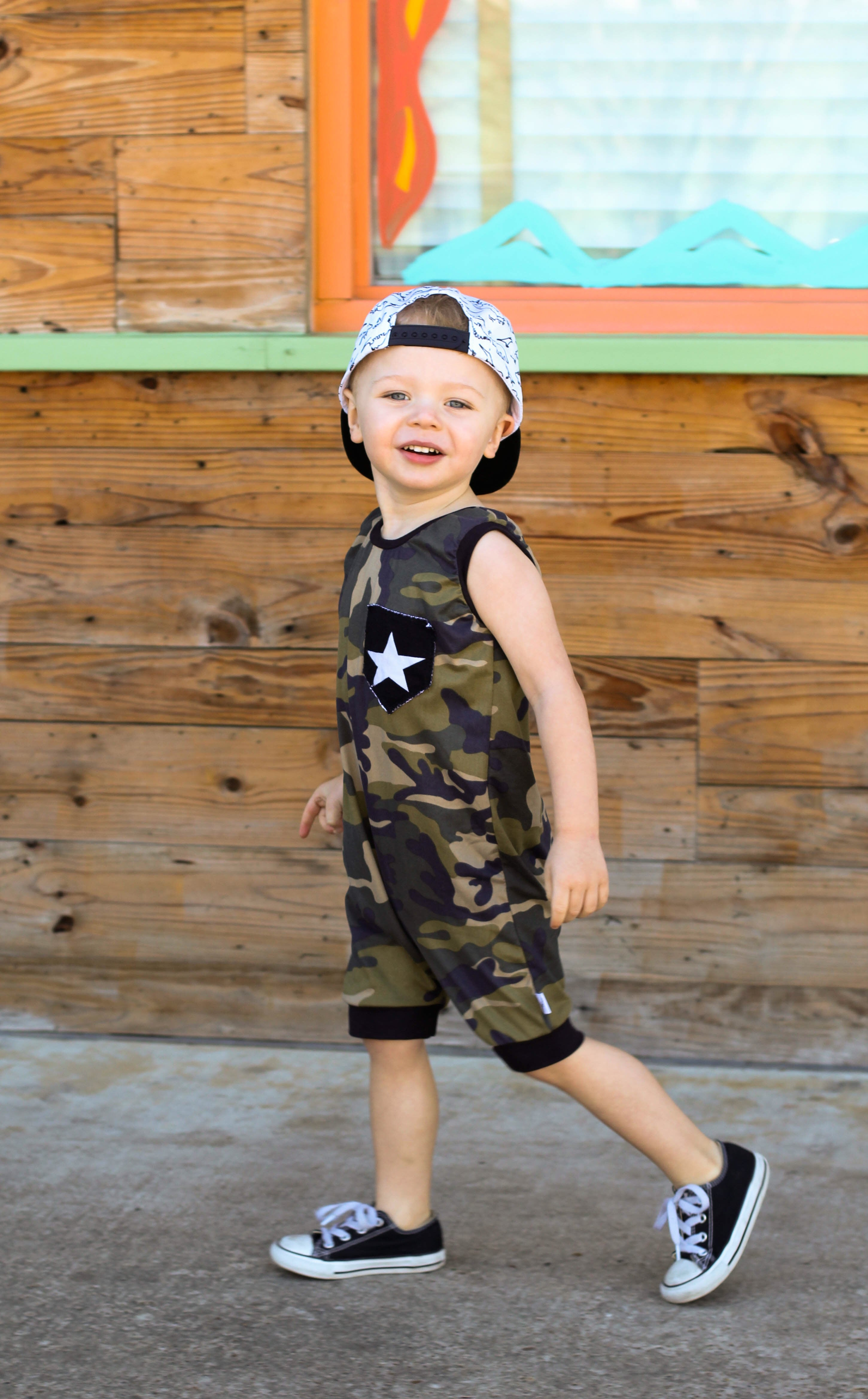 Camo Pocket Romper/Dress/Hoodie