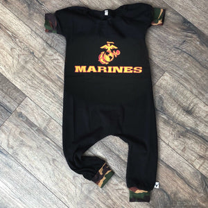USMC Marine Corps Military Hero Romper/Dress/Hoodie