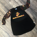 USMC Marine Corps Military Hero Romper/Dress/Hoodie, dress example