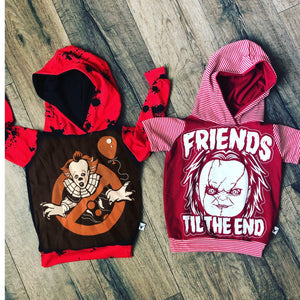 Friends til the End Chucky Halloween Romper/Dress/Hoodie, Hoodie Examples