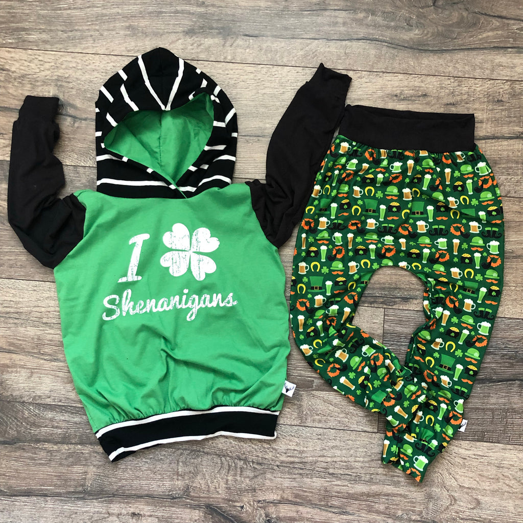St Patty's Say Shenanigans Hoodie Jogger Set