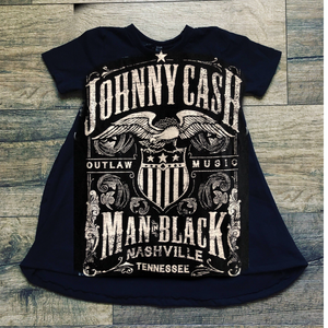 Johnny Cash Classic Country Romper/Dress/Hoodie, Dress Example