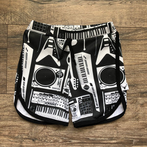 Monochrome Music Swim Shorts, Board Shorts