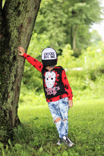 Mamas Boy Friday the 13th Scary Romper/Dress/Hoodie, Hoodie on Boy