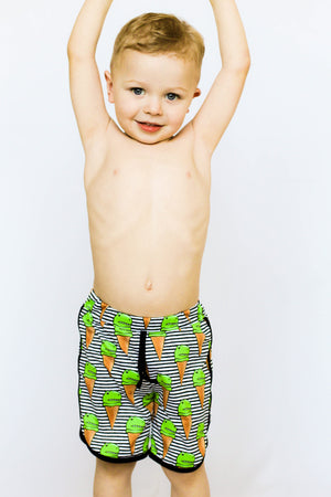 Dino Ice Cream Swim Shorts, Board Shorts