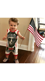 Abe Lincoln MERICA Patriotic Romper/Dress/Hoodie