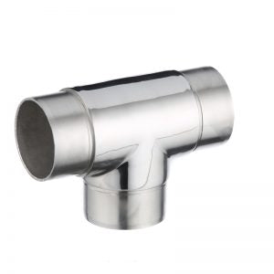 Tee Joiner 1.6mm x 50.8mm Handrail and 3.0mm x 50.8mm Post. Mirror Polish