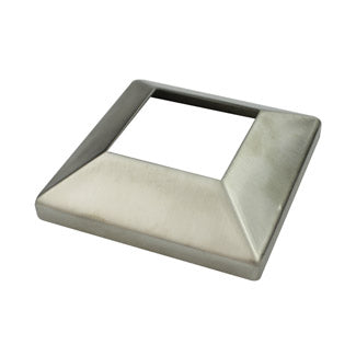 Cover Plate, 50mm square tube, Satin Finish