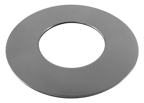 Cover Plate, Flat for Cored Posts, 50.8mm tube, Mirror Polish
