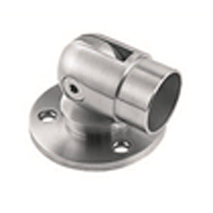 Adjustable Base Plate (Pin Type) for 1.6 x 50.8mm handrail. Satin Finish