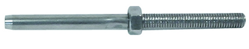3.2mm Threaded Terminal Swage No Flat W/Lock Nut M5 RHT, Length 90mm