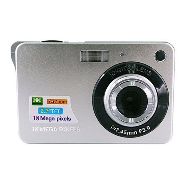 Portable 18 Megapixels Digital Video Camera 2.7'' TFT Display Digital Zoom Video Camera - Silver
