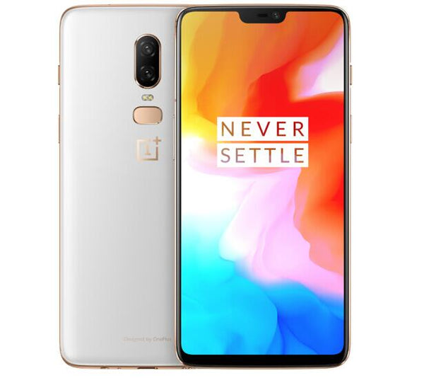 Oneplus 6 Waterproof 4G Smartphone - 8GB RAM 128GB ROM, 6.28 Inch, Octa Core,Android 8.1,20MP, NFC - White, EU PLUG