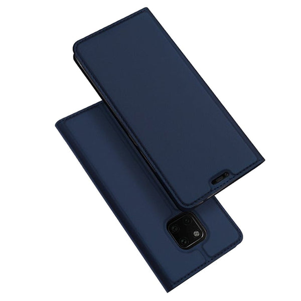 DUX DUCIS Flip Magnetic Adsorption PU Leather Card Slot Full Cover Protective Case for Huawei Mate 20 Pro