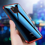 Cafele Transparent Plating Soft TPU Back Cover Protective Case for Huawei Mate 20 Pro