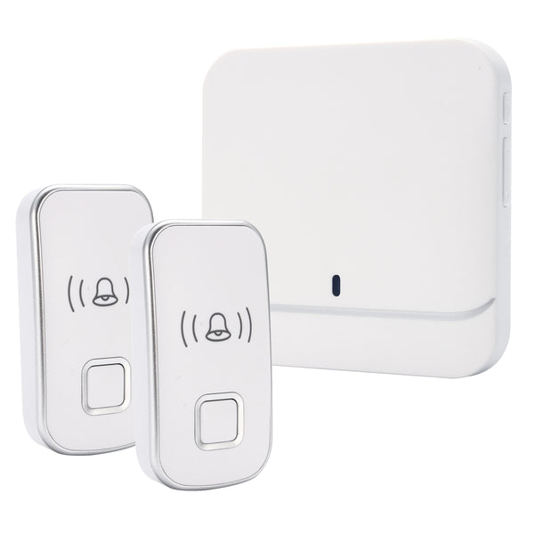 Wireless Doorbell Electric Doorbells US Plug LED Door Bell with 1 Transmitter + 2 Receives