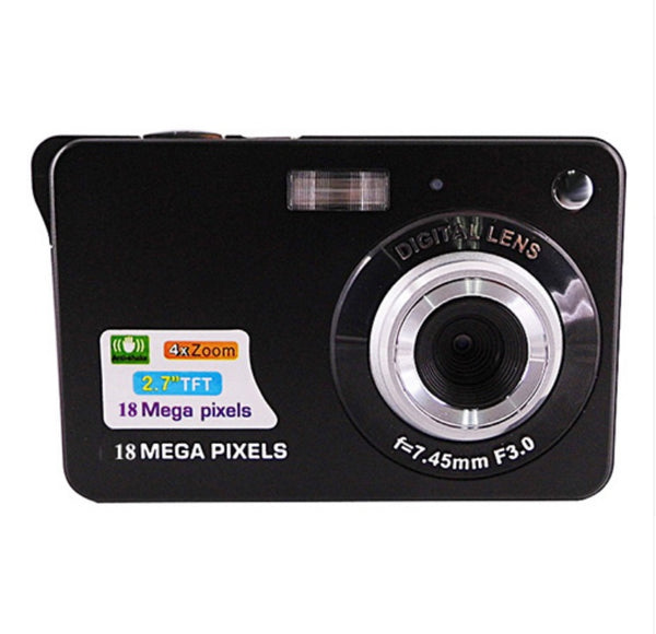 Portable 18 Megapixels Digital Video Camera 2.7'' TFT Display Digital Zoom Video Camera - Black