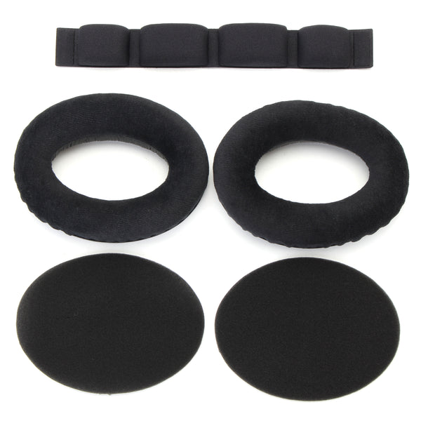 1 Pair Replacement Velour Ear Pad Headband for Headphone HD545 HD565 HD580 HD600 HD650