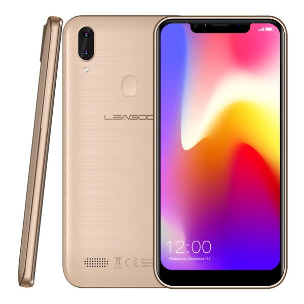 LEAGOO M11 Smartphone - 2GB RAM 16GB ROM, Android 8.1, Quad Core, Rear Fingerprint, Fast Charge - Gold