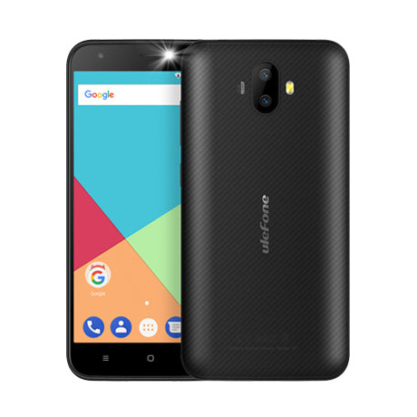 Ulefone S7 Android Phone - Android 7.0, Quad-Core, 2GB RAM, 5-Inch, 8MP Camera, Dual-IMEI, 3G (Black)